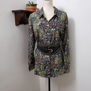 Koret Paisley Print Colorful Blouse Size 22W